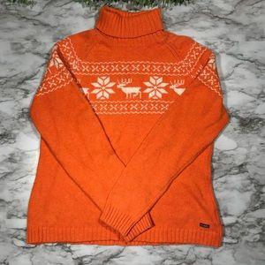 Columbia || Reindeer Fair Isle Sweater Size L